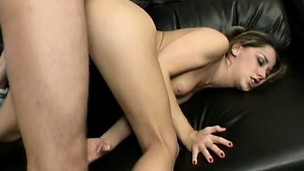 Cock-loving Petra works a guy's proud manhood with her erotic feet