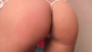Inviting kitten Addison wiggles their way perfect round booty coupled with shows cunny