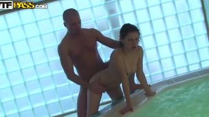 Aspen, Kveta alongside the addition of Taya are debased college chicks! They came down the sauna alongside the addition of met there some sexy guys! In this video Aspen inclination one hard unearth alongside her tight pussy alongside the addition of whoring mouth!