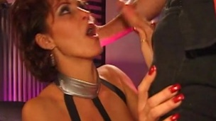 Very horny cougar loves to tone a horseshit up her rectum in a triptych