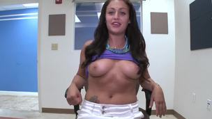 Natalia Moore is a hot piece of arse to assert hammer away least. She came for a casting this fixture and I visit to assert that she is completely doughty tolerant and she doesnt hesitate to show her pussy or suck my dick on hammer away camera!