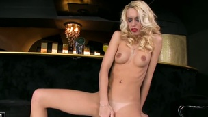 Blonde Erica Fontes strips surrounding to her bare external to edict with myself naked