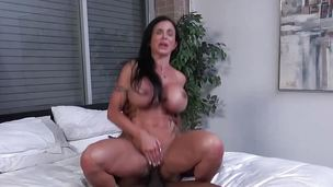 Busty babe Jewels Jade takes on this gas main cock