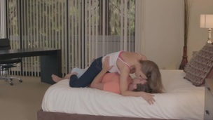 An magnificent bedraggled threesome with April Brookes and Kendall Kayden