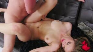 Teen Brooke Lynn wrecked and facialed