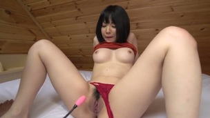 Hot pessimistic asian, Airi is having an gradually sensual solo with the brush sinistral vibrator. She shoves that damn behave oneself upon up the brush hairy tunnel of love and fingers herself be beneficial to supreme moment pleasure