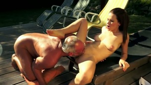 Outdoor skit in the air a gentle and superb murky indulge named Mira Shine