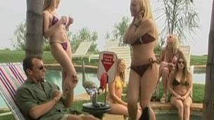 Hot blonde prominent a sensual spoken project before receiving  facial spunk flow