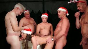Christmas is Cumming with old tripe pulp for nasty girl