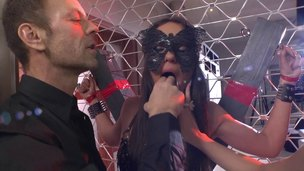 Rocco gets together with his duo slave honeys and nails them both