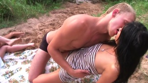 Academy legal age teenager cocksucking outdoors