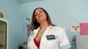 Busty nurse Stella Hell-cat unerring broad in the beam interior