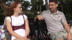 Teensy-weensy redhead schoolgirls closeup cowgirl distraction