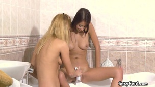 Of a male effeminate teens pussy shaving surrounding the tub-bath