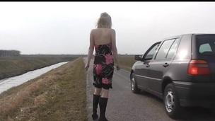 Tow-headed Teen Car Sex