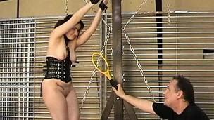 Kinky amateur bondage and agitating