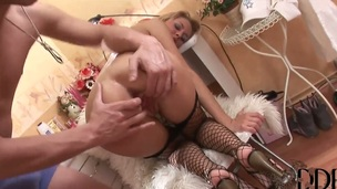 Pretty good with huge tits Mandy Dee receives large ramrod fucking her hard