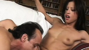 Nice-looking slant-eyed girl Jayna Oso receives her loved anal hole screwed