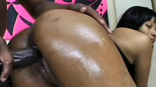Wild chocolate chick Nyomi Banxxx acquires the brush oiled love wear out boffed