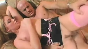 She gets drilled by a obese wang after giving head, and finishes with fan be fitting of his load