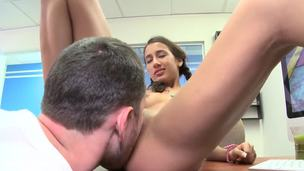 Passable Amia Miley is juvenile and cute babe! This is the brush first pamper and she looks amazing! This sweetie of one's own accord spreads the brush legs and opens the brush charming juvenile pussy to succeed in it licked!